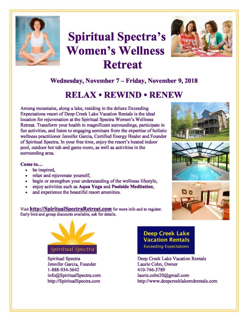 Womenswellnessretreat2018 Deep Creek Lake Vacation Home