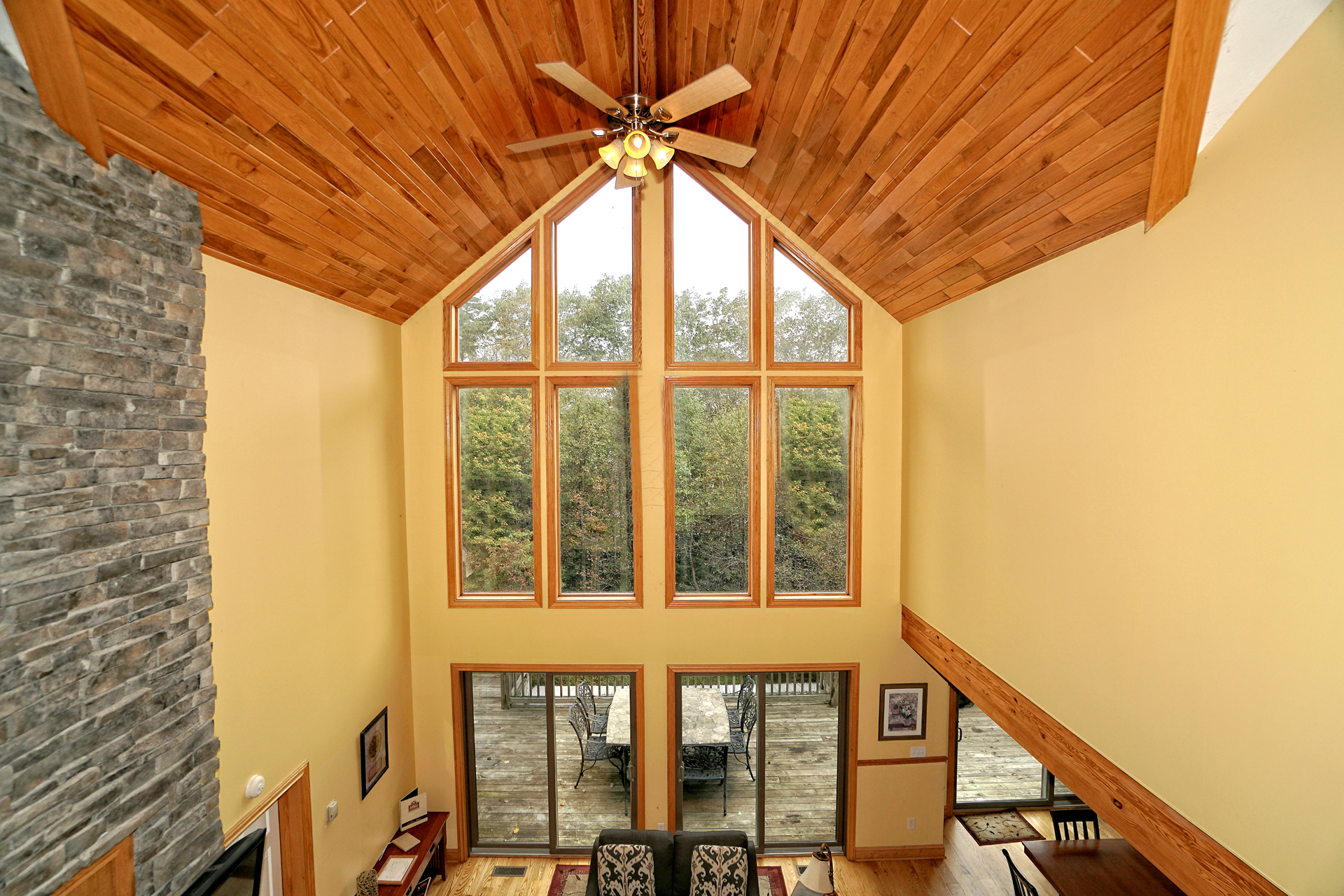 Railey Mountain Lake Vacation Home High Ceiling Windows