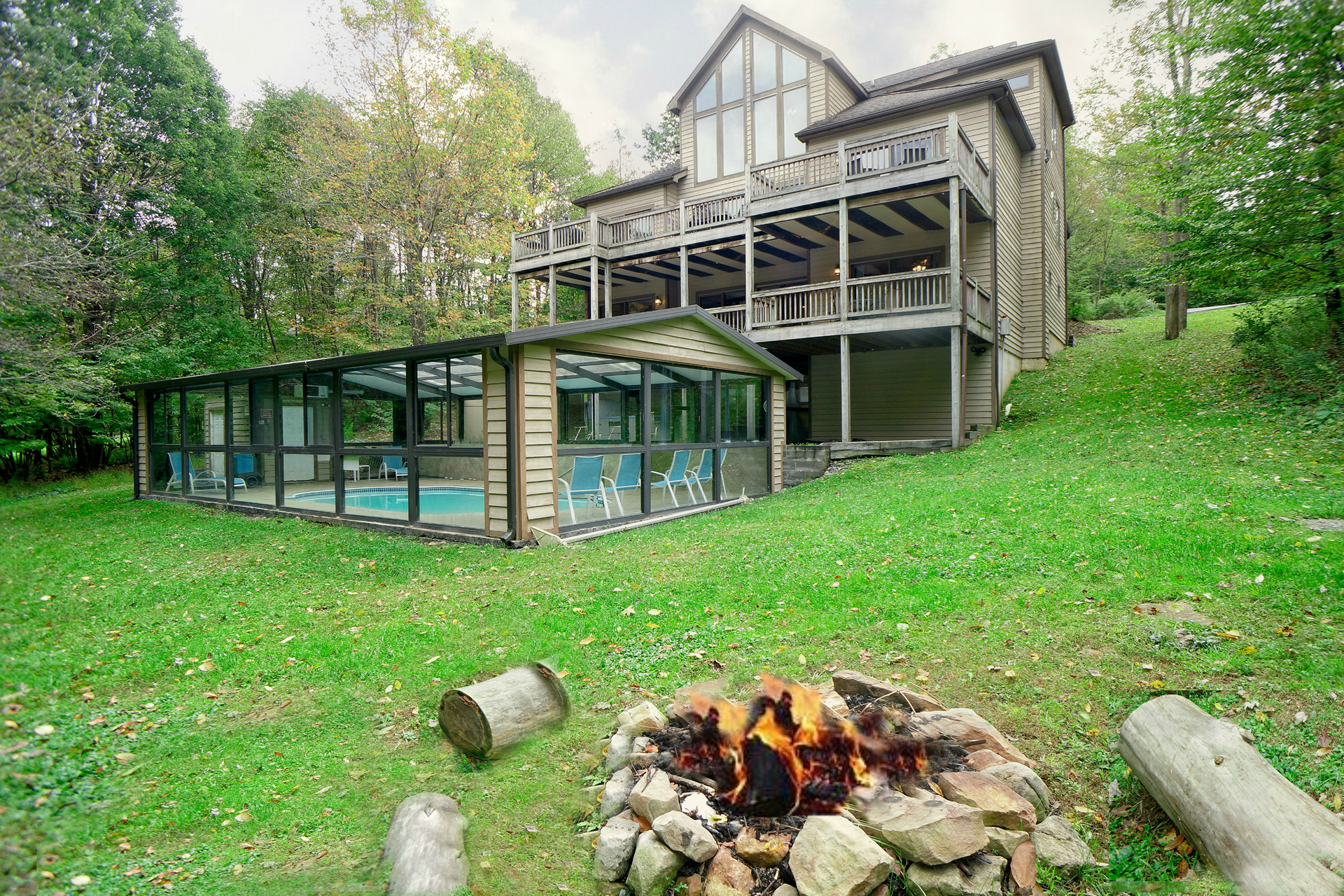 deep creek lake vacation homes for rent by owner exterior fire pit in deep creep lake rental