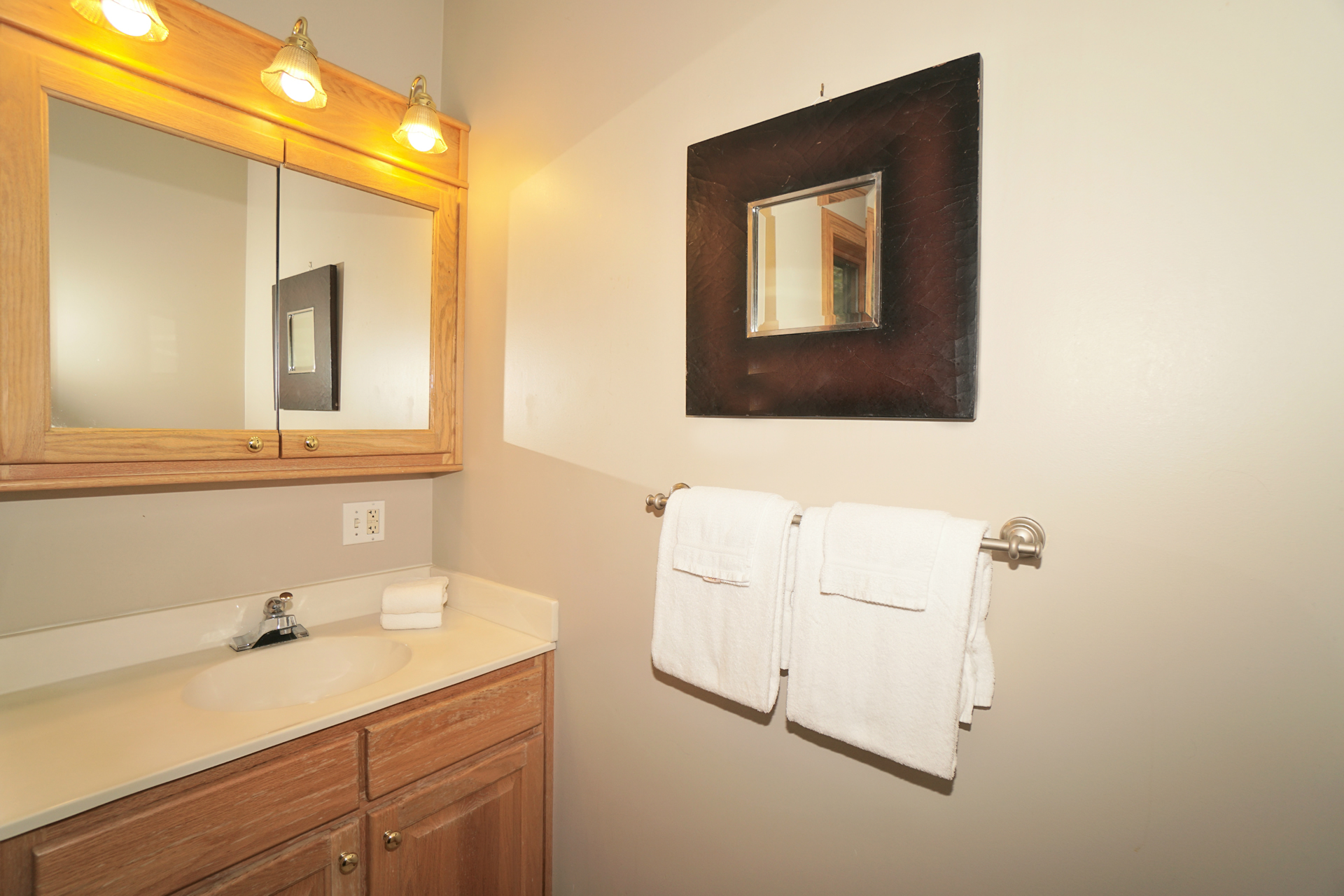 Luxury Vacation Getaway Large Bathroom Sink Deep Creek