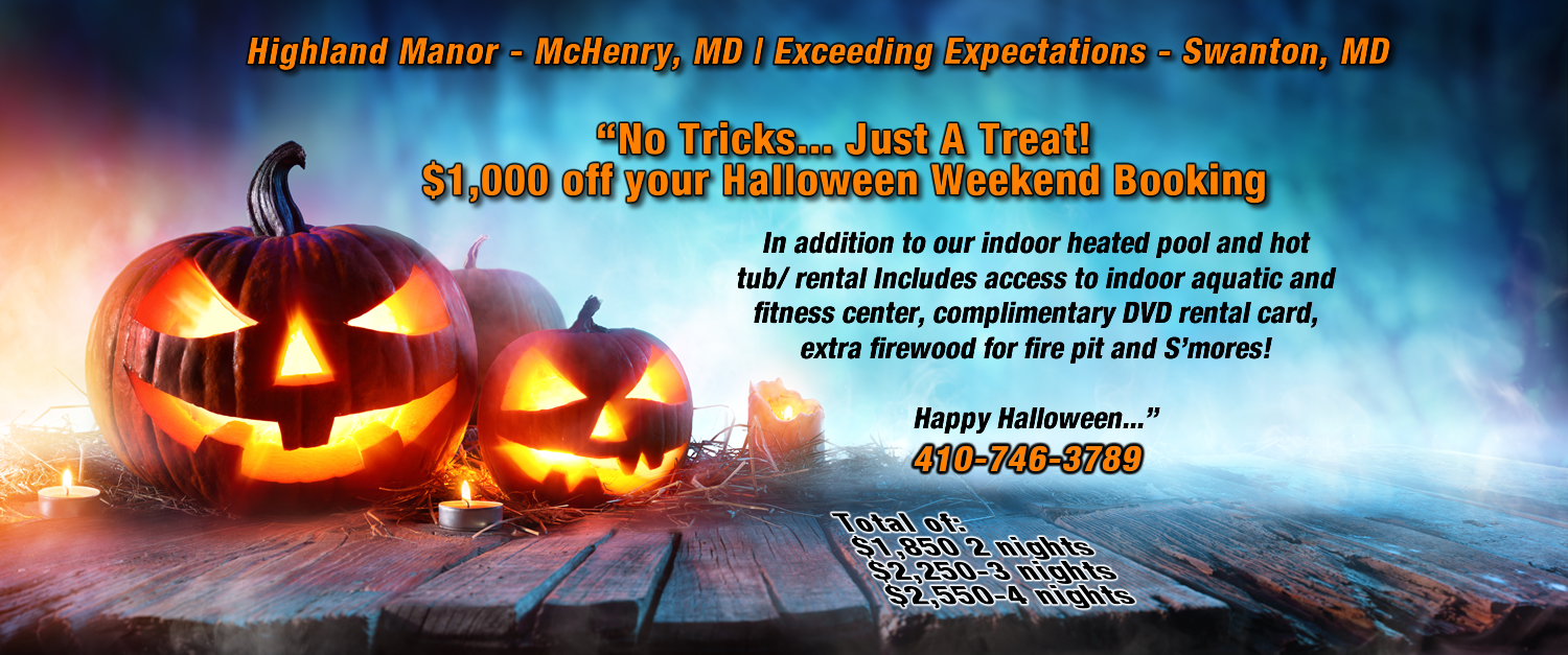 halloween McHenry Maryland halloween booking in deep creek lake