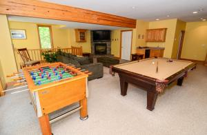 game room on lower level